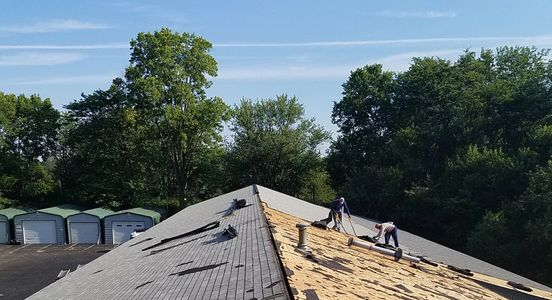 Commercial roof job