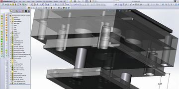 SolidWorks 3D model injection mold