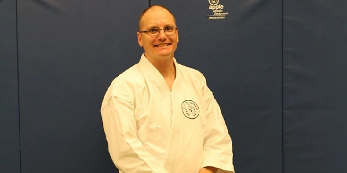 Renshi Adrian Robichaud, head instructor and owner of Whitby Karate, Whitby, Ontario.