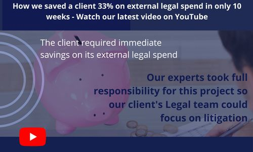 How we saved a client on its external legal spend