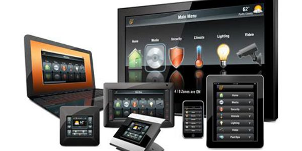 Examples of different app control in a home theater using a home automation system