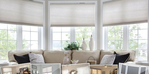 Automated Shades that rise when the sun comes up and go down when the sun goes down