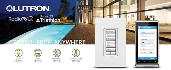Lutron Lighting and Shade control as offered by Wave Home Technologies