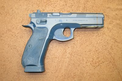 CZ 75 SP-01 Tactical with rail Bluegun used to make various other models.