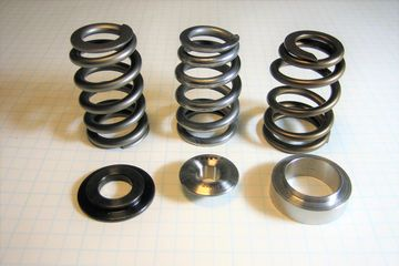 Classic Mini Cooper racing valve spring.  1275 Mini Cooper valve spring retainers. Mini racing parts