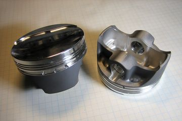 Piston for classic Mini Cooper, 1275 Cooper S.  Forged pistons for A series engines.