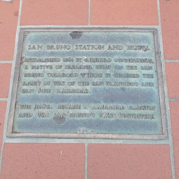 San Bruno Station and Hotel Plaque