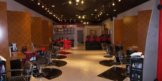 Inside Salon Rouge, Fullerton, CA