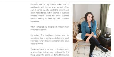 Interview re: how to grow photography  business; liz london business coach for photographers