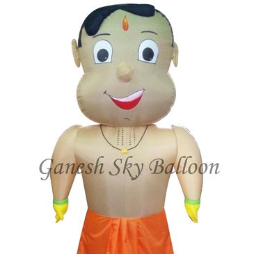 Chhota Bheem Cartoon Walking Inflatables, Chhota Bheem Inflatable walker, Chhota Bheem Inflatable.