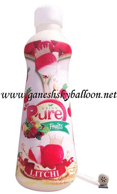 Pure Drink bottle shape Air Inflatable for Trade Fair, Bottle Shape advertising air inflatable.