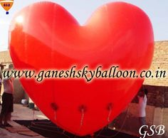 Heart shape sky balloons, PVC sky balloons, Advertising Balloon Manufacturers, Balloon Manufacturer.