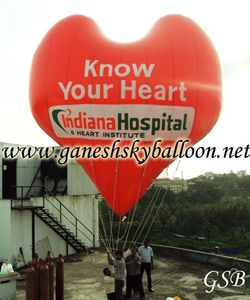 Heart Advertising Balloon for Indiana Hospital Heart Institute Mangalore.