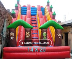 3 line Bouncy, 3 Line Slide Bouncy, Slide Bouncy Manufacturers, 3 Gallery Inflatable Bouncy, Bouncy