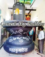 Shiviling Air Inflatable, Black Color Air Inflatable Shivlingam for Om Shanti.