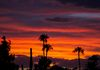 """Hurricane Newton Sunset""-The remnants of hurricane Newton decorate the Arizona sky at sunset."