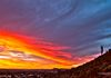 """Lover's Sunset""- A romantic sunset over Phoenix for Valentine's Day."
