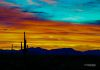"""Orange Morning Sky""-The colors constantly change as the sun rises over Tonto National Forest."