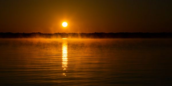 A sunrise photograph from Lake Eufaula, Alabama.