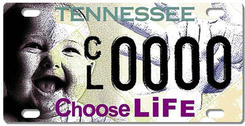 CHOOSE LIFE LICENSE PLATES