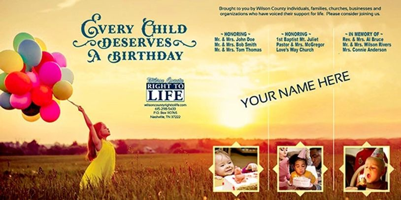 WILSON CO. RIGHT TO LIFE FAIR CATALOG & FAIR BOOTH IS AUGUST 13-22, 2020