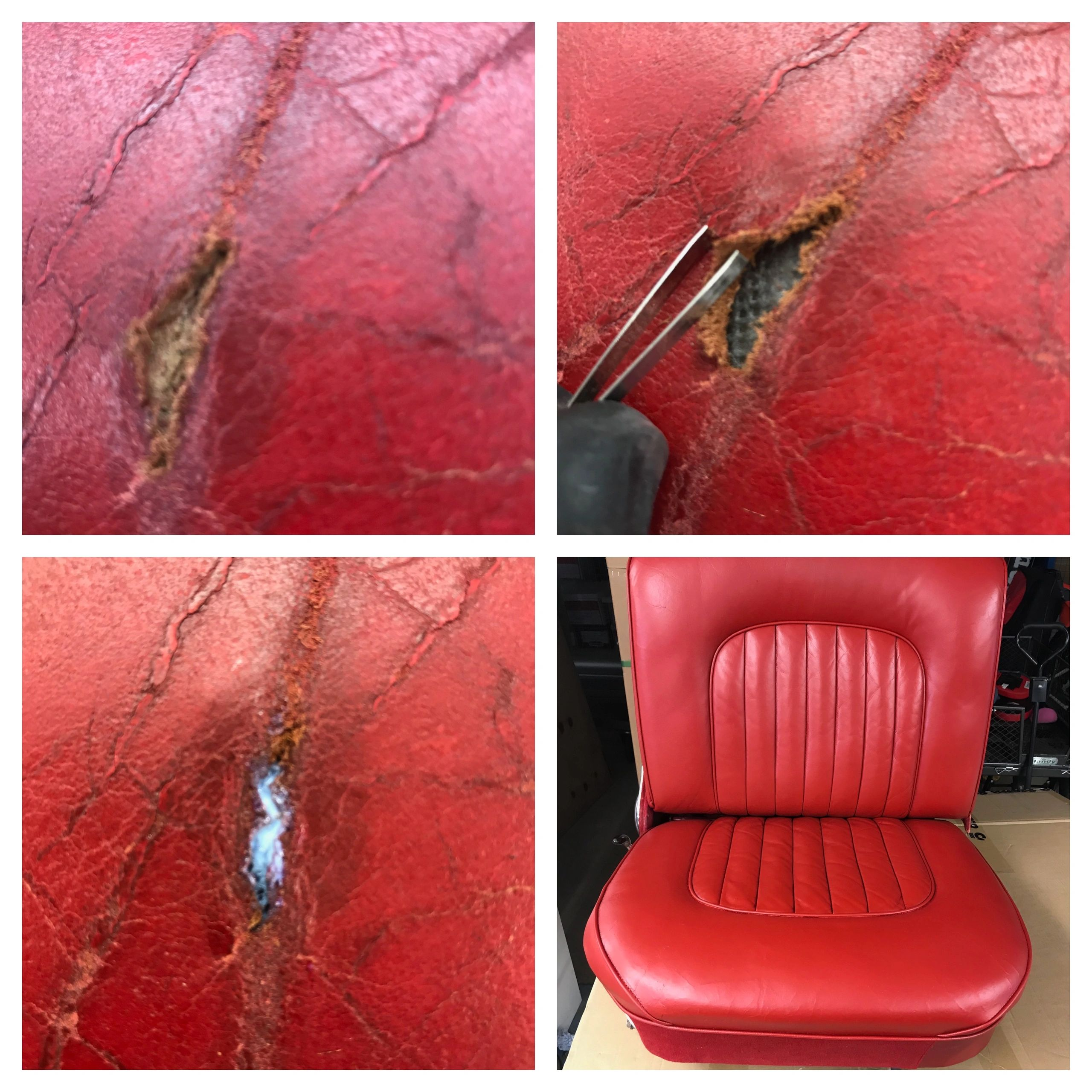 Leather repair on jaguar leather seat using Colourlock by Healey's Mobile Valeting