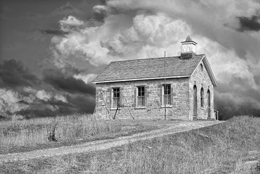 black and white photography for sale, lower fox creek school, tallgrass prairie preserve, g hill