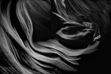 black and white photography,  Gerald Hill photography, Antelope canyon, Navajo, BIA, slot canyon