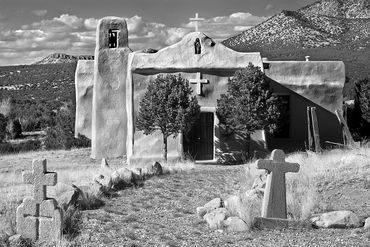 black and white photography,  Gerald Hill photography, for sale,  southwest, old Church, New Mexico