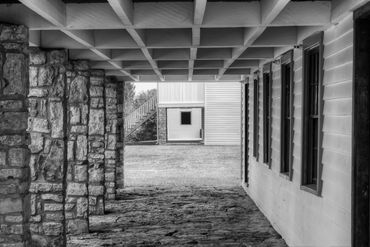 black and white photography,  Gerald Hill photography, Abstract architecture, Ft. Scott Kansas, old