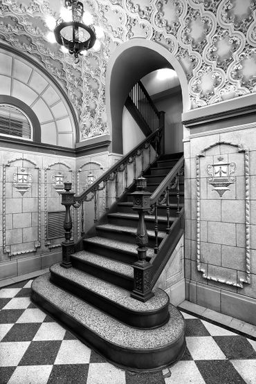 black and white photography,  photography by Gerald Hill, home decor, orpheum theatre, Wichita KS