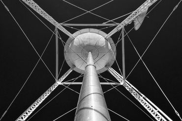 black and white photography,  Gerald Hill photography, Abstract, water tower, architecture photo's