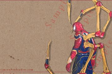17 x 11 Iron Spider on Paper 24 pt