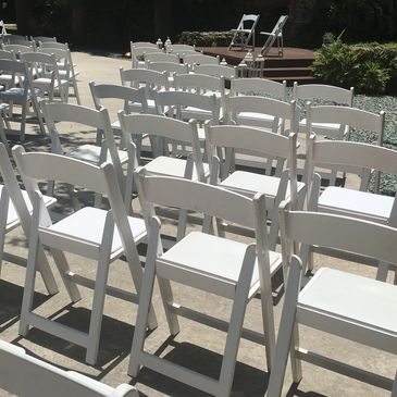Resin Folding chairs, Wedding Chairs Rental Miami.