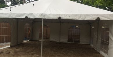 tent 20x20 with side walls rental special for small outdoor events