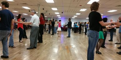Tuesday night group class at NRG Ballroom.