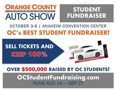 Orange County's Best Student Fundraiser.  Sell OC Auto Show tickets and keep 100%