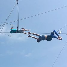 Youth Flying Trapeze catching.