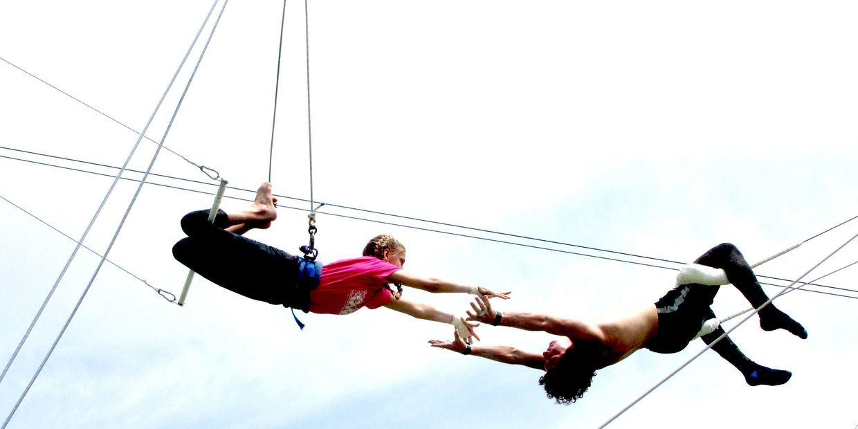 Flying Trapeze class, camps and events for kids, teens and adults