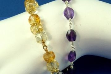 Wire Wrapping Bracelet Jewelry Class Just Bead Yourself in Westfield NJ Adult DIY Gemstone Design