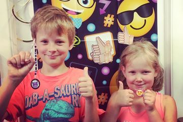 Emoji Party at Just Bead Yourself in Westfield, NJ DIY jewelry Fun for Kids Create Things to Do