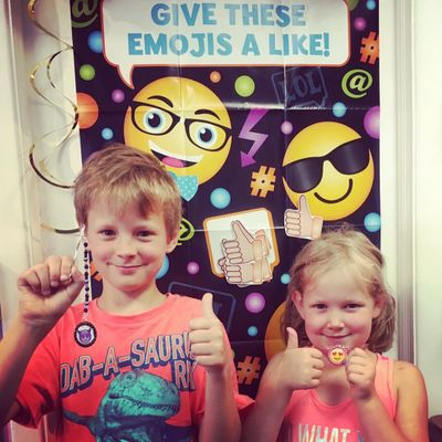 Emoji Party Kids Birthday Party at Just Bead Yourself in Westfield, NJ Fun Jewelry Making Themed