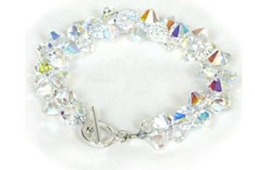 Swarovski Crystal Rock Candy Bracelet DIY Class Just Bead Yourself in Westfield NJ Adult Fun Jewelry
