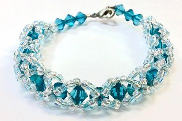 Helix Swarovski Crystal Bracelet Jewelry Class Just Bead Yourself in Westfield NJ Fun Adult DIY