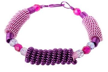 Coiled Wire Bead Bracelet DIY Jewelry Class Westfield NJ Adult Fun Do It Yourself Create Design