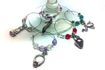 Design My Wine Paint Glass and make Wine Charms Just Bead Yourself in Westfield NJ Fun Ladies Night