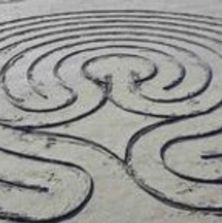 A portable labyrinth that is available for those working with Into silence