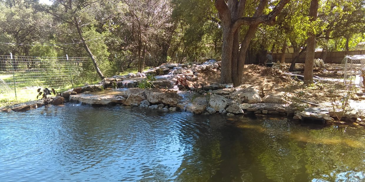 Natural swimming pond Wimberley texas