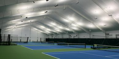 Copper Tennis, Tennis Complex, LED Lights, LED, lighting, Electrical service, Service, Electrical, C