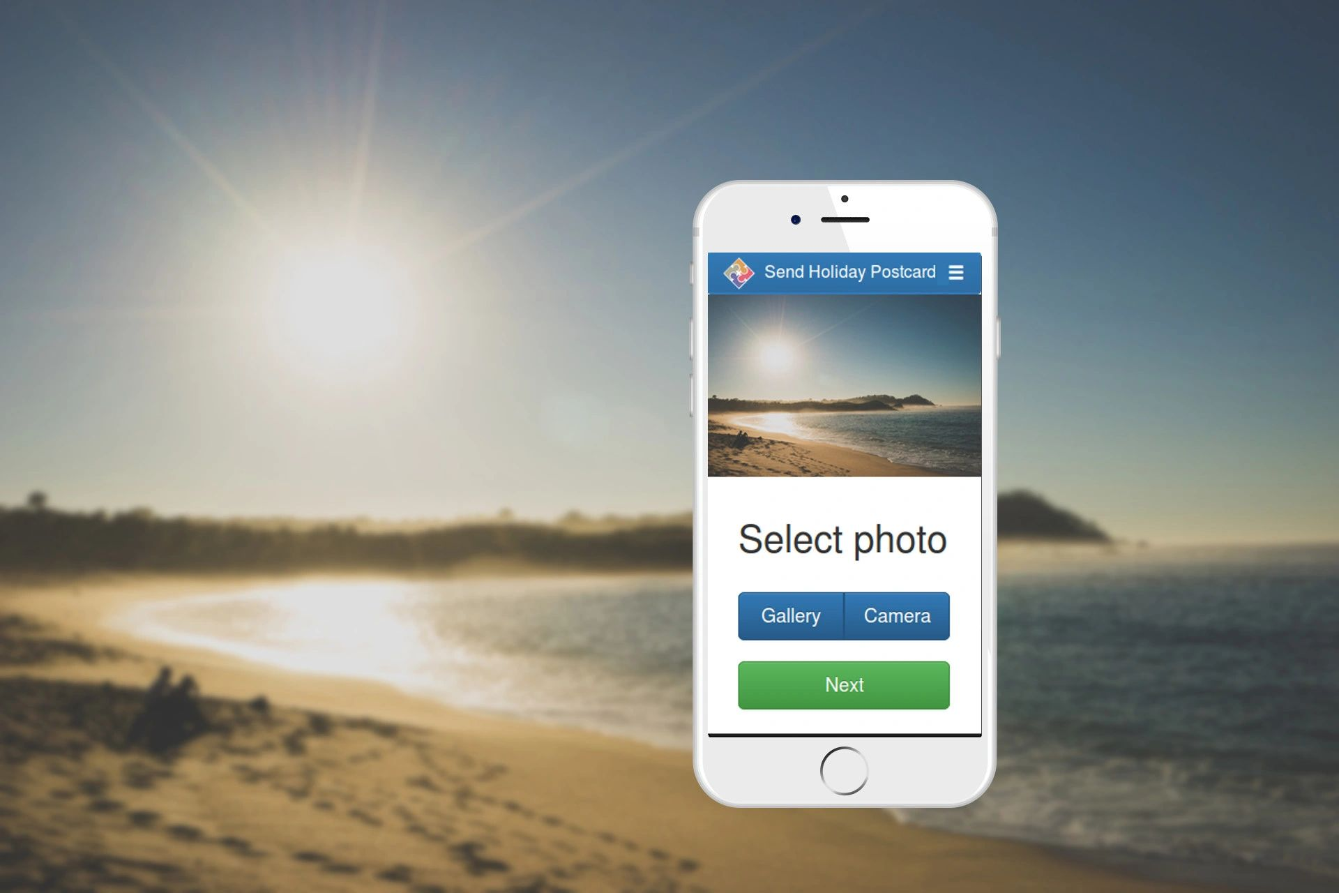 Send Holiday Postcard app is a PAYG Service for an iPhone, Android Phone, iPad,  Tablet or Computer.